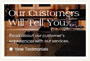 Hear what our customers say about Lake Hallie Cabinets