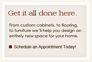 Finish your room with furniture and appliances through Lake Hallie Cabinets.