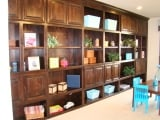 Custom Cabinets with Shelving Spaces